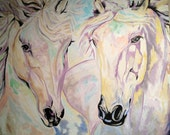 Colorful Horse Painting - 'True Love'