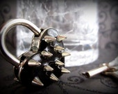 Heart Lock with Spikes, heart  lock, BDSM Lock, lock and key, locking Jewelry
