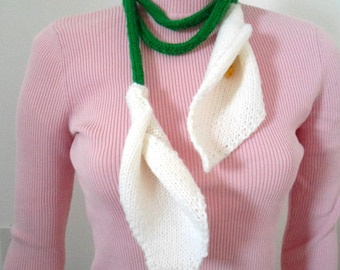 Calla Lily Lariat Scarf or Necklace