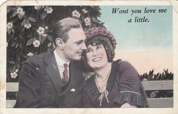 From etsy shop EphemeraObscura vintage wedding proposal post card