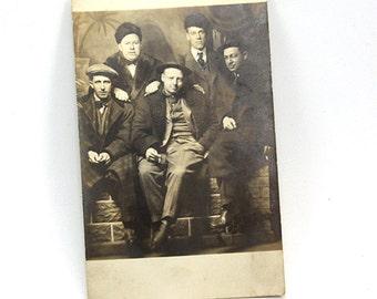 Real Photo Postcard The Gang