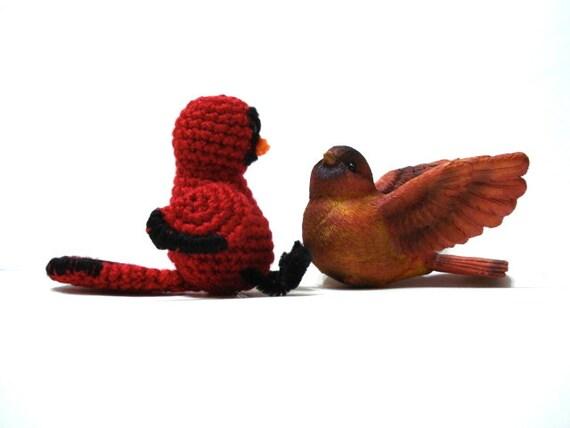 Amigurumi Bird Tutorial : Items similar to Pattern, Amigurumi Cardinal Bird Pattern ...