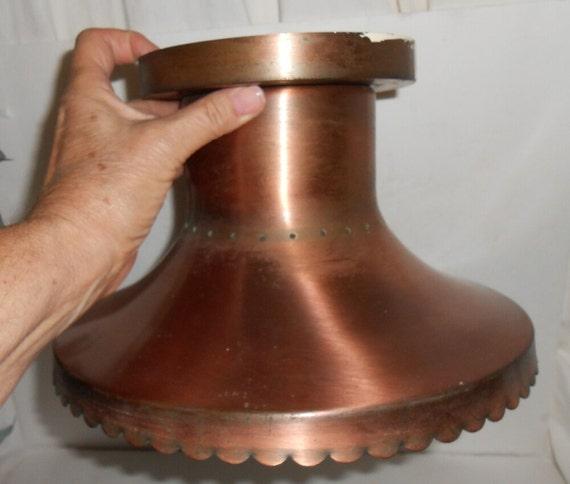 Vintage Copper Light Fixture Copper Ceiling Fixture 1960 Retro