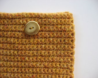 square pouch wool case clutch for cds or strings, etc.