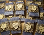From my shower to yours, rustic favors, lavender, mini soaps, personalize, customize to any quantity, just ask. This one is a set of 50