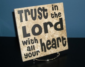 Trust in the Lord Decorative Tile