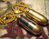 45 ACP Pull Chain. Brass or Nickel cased. Neat gift for him or her. For ceiling fan or light.