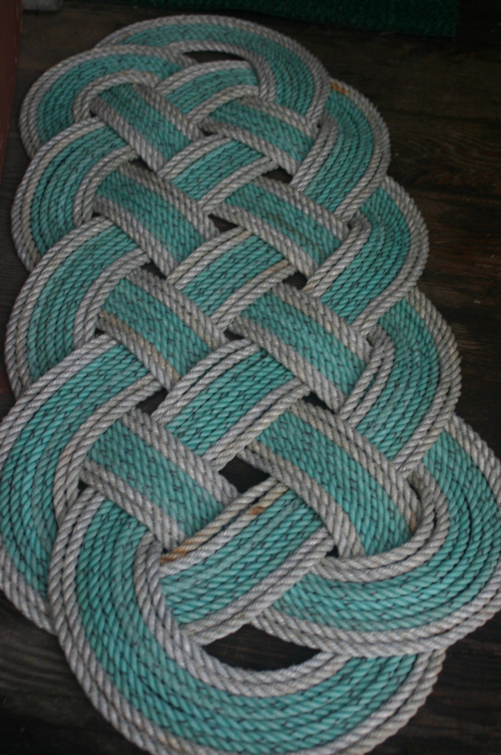 Eco-Friendly Rope Rug 36 x 15 Recycled Rope Doormat Nautical ...