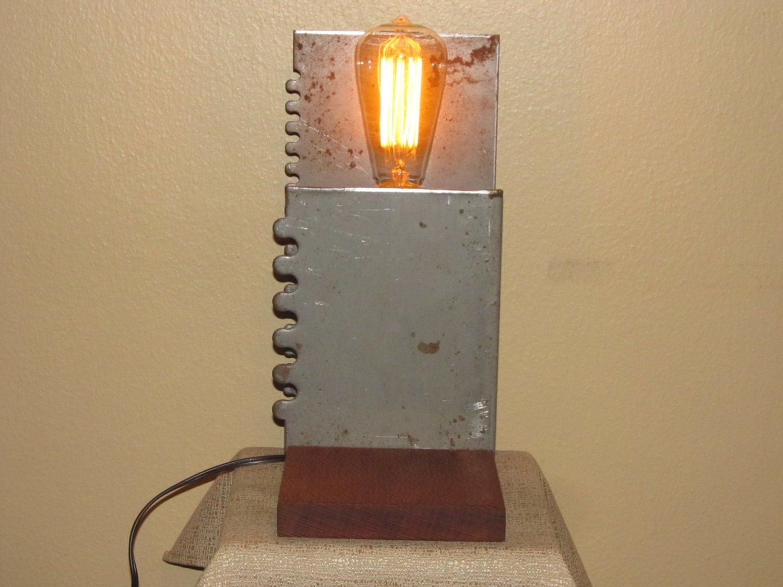 Found Metal Artifact Lamp Number 59 steampunk buy now online