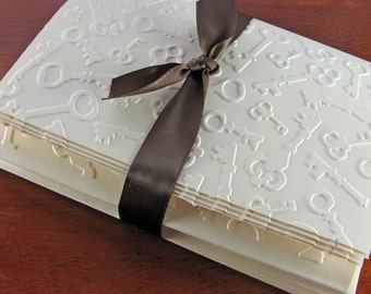 Blank Notecards Embossed (Key Paper, Old World Charm, Victorian, Steampunk)