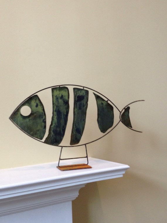 Abstract Scrap Metal Sculpture Fish