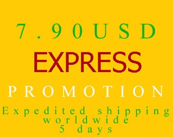 EXPRESS PROMOTION Expedited Shipping worldwide 4-6 days / only for orders with 14 items or more