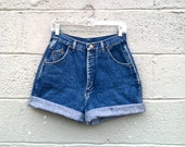 """80s high waisted denim shorts 28"""""""