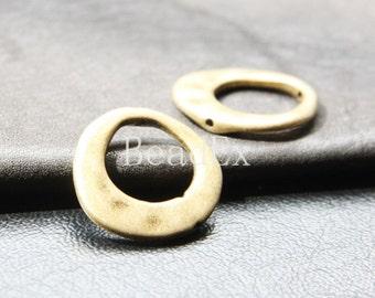 10pcs / Bead Frame / Antique Brass Tone / Base Metal / 20x21mm (YB10246//C222B)