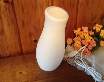 Satin Glass Lamp Electric Light Unusual Shape Leans Mod Home Decor