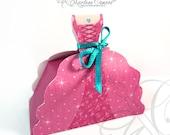 Royal Princess Favor Box, Princess Birthday Party, Pink princess, Candy Box, Gift, Favor Box, Princess Party, sweets 16 -INSTANT DOWNLOAD