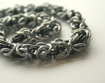 Necklace Byzantine Chainmaille 16 inches Your Choice of up to 3 Color