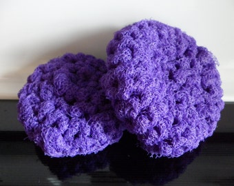 Dish Scrubbies Crocheted with Nylon Netting Pot Scrubbie  Pan Scrubby