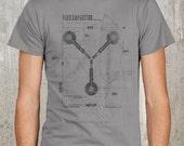 Flux Capacitor Grunge Diagram - Screen Printed Men's T-Shirt