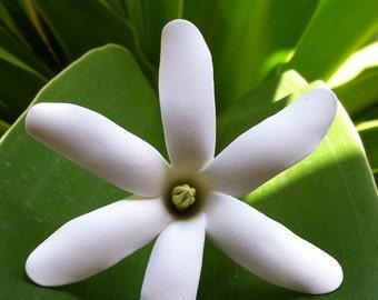 RESERVED FOR HINALEI,Hawaiian Custom Clay Flower,Tiare,Tahitian Gardenia,Handmade flowers,Maui