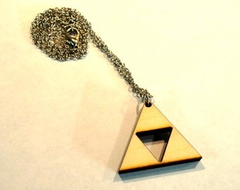 Wooden Triforce Necklace