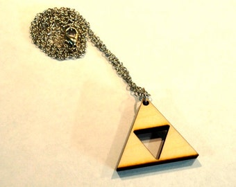 Wooden Triforce Necklace