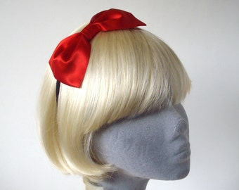 Red Headband- Red Bow Headband