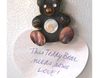 Teddy Bear Mini Mosaic Magnet