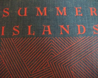 antique book, SUMMER ISLANDS, Norman Douglas, signed, Limited American First Edition, 1931, New York