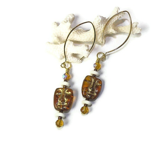 Mid-Century Tiki Culture Earrings E128 By LoveStoneArts On