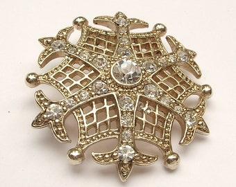 Antique 1930's Monet rhinestone brooch pin, Art deco jewelry, antique brooch, art deco brooch, wedding jewelry bridesmaid jewelry