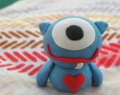 Little Blue Cyclops Monster custom (for Stefani)