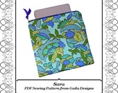 """PDF Sewing Pattern iPad 1, 2, 3 or 4, iPad Air, or other tablet computers case cover simple square with zipper fully lined """"Sara"""""""