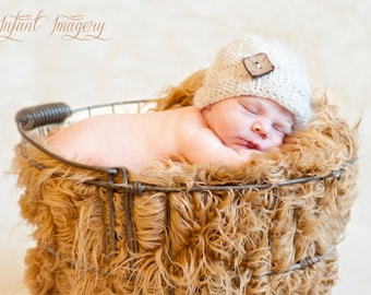 Basket Weave Beanie Knitting Pattern - All Sizes Newborn through Adult Male Included - PDF Sale - Instant Digital Download