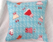 60% off CLEARANCE SALE! Baby Pillow Case, Nursery, Kids Bedroom, Decorative Pillow, 14x14, Turqoise, Red, Pink, Just Stay Little, Sarah Jane