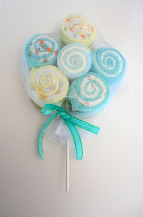 extra large washcloth lollipops baby shower decoration
