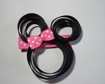 Hot Pink Minnie Mouse Clip