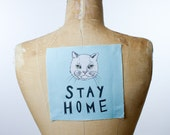 Printed canvas patch - Stay Home