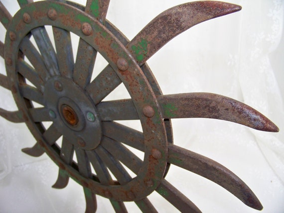 Vintage Farm Equipment Garden Decor Modern Art Steel Rusty