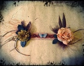 Blue Butterflies Headdress//Headpiece, Mori Girl, Tribal belly dance, Steampunk, Butterfly, Costume