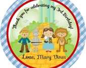 Wizard of Oz Inspired Tags, Favor Tags Thank You Tags Gift Tags, Dorthy Favor Tags, Personalized Favor Tags