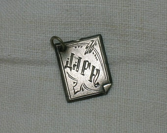 Soviet Silver Charm or Pendant. Cyrillic Letters spell Darn, Express your Disappointment?