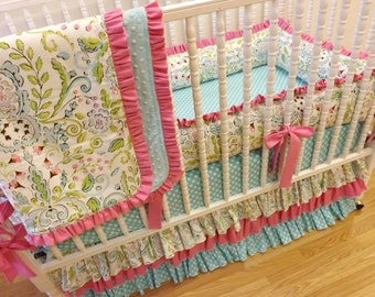 Baby Bedding Made to Order 4 pc Crib Bedding Set