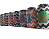 PERSONALIZED BRIDESMAID GIFTS-Monogrammed beer can Insulators-bridesmaid gift ideas-unique bridesmaid gifts