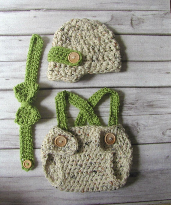Items similar to Crochet baby hat-Newsboy hat with diaper ...