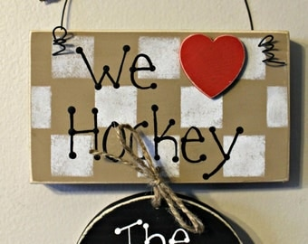 Wooden Personalized Family Hockey Sign