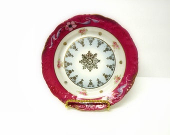 Antique Plate Collectibles- URBAN CHIC DECOR- Alice in Wonderland- Shabby Chic Dish
