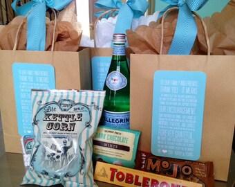 Destination Wedding Welcome Bag Thank You