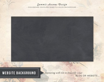 Chalkboard / Blackboard Seamless repeating website & blog background Instant Download