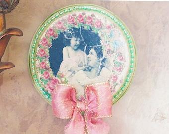 wall decor, home decor, plaque, sign, wood plaque, vintage picture